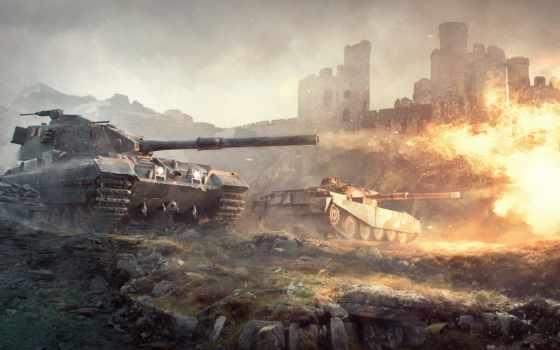 tanks, world, wot, огонь, сзади, картинка, британские, blitz,