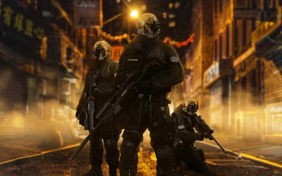 солдат, scus, futuristic, see, серия, notebook, маска, neon, винтовка, улица, шлем