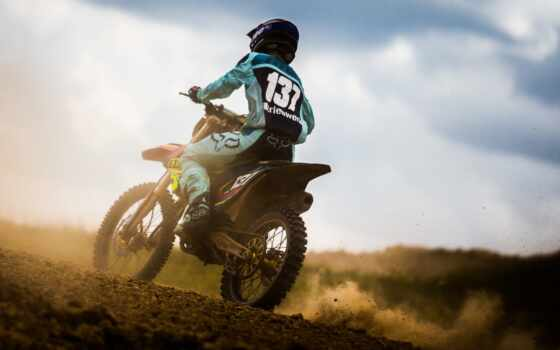 мотоцикл, спорт, мотокросс, красивый, взгляд
