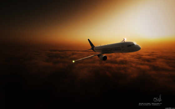 пассажирский, облака