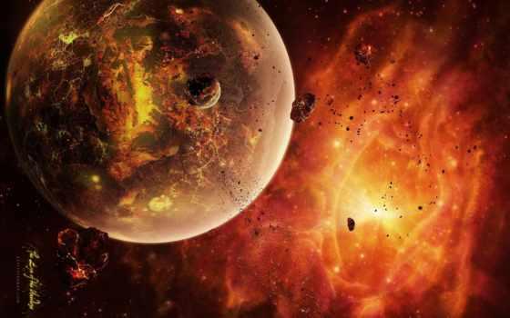 астероиды, планета, раскаленная, sistem, dead,