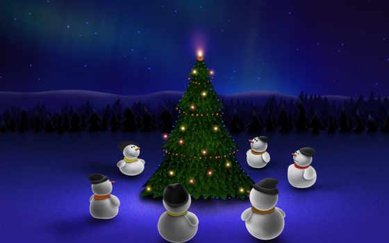 christmas, снеговики Фон № 31306 разрешение 1600x1200