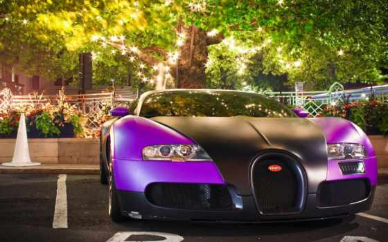 bugatti, veyron, purple