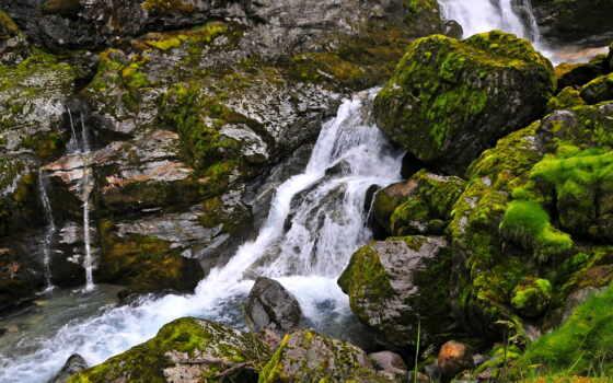 водопады, водопад, природа