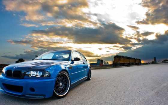 bmw, blue, купе, clouds,  m3, e46, бмв,
