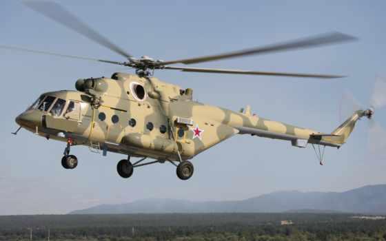 ми, амтш, многоцелевой, mil, вертолет, хип, полет, вертолеты,