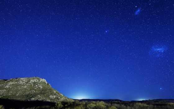 ночь, небо, starry, macbook, фотообои, stars, ночью,