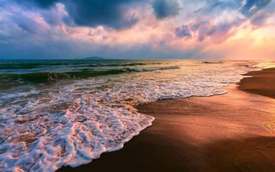 waves, summer, морские, море, берег, телефон, landscape, разных,