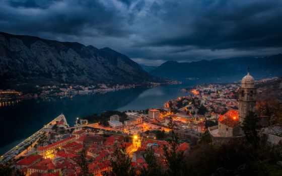 котор, montenegro, descargar, pantalla, fondos, noruega, noche, libre, город, everything,