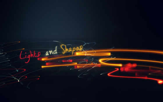 shapes, lights, light, узоры, линии,