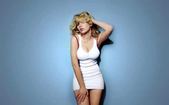 скарлет, йохансон, белое, платье, блондинка, йоханссон, scarlett,