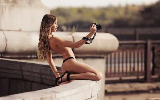 фотоаппарат, девушка, кальмиус