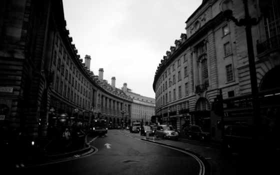 чёрно, белые, город