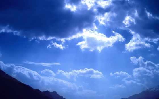 небо, blue, просвечивает