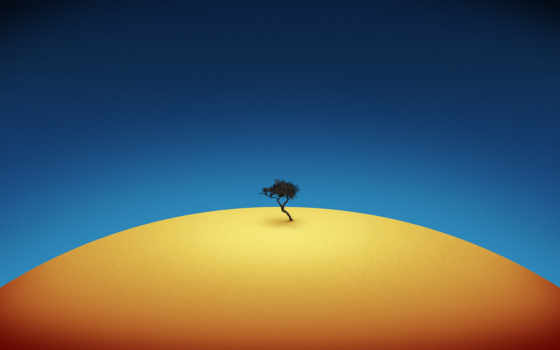 минимализм, дерево, blue
