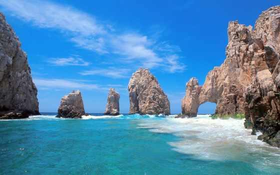 san, lucas, cabo, mexico, самые, arco, фотообои, море, природа,