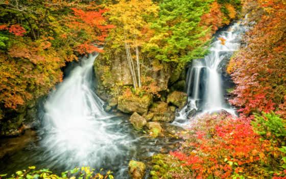 falls, водопад, река
