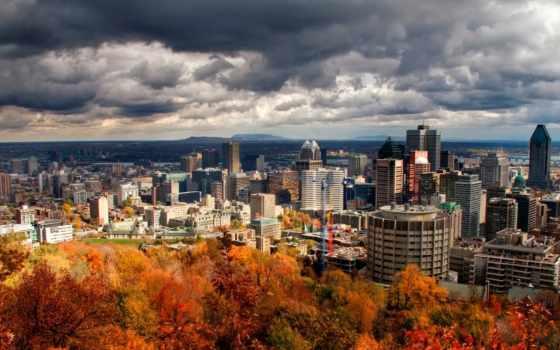 город, панорама, осень, time, картинок, большие, осення, montreal, природы,