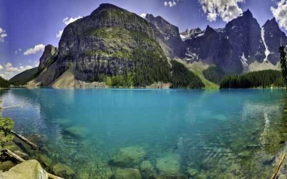 озеро, water, горы, прозрачная, водой, озера, яndex, природа, гор, прозрачной, ветки,