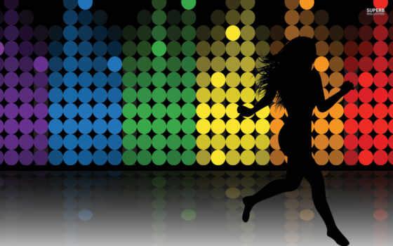 силуэт, танцовщица, вектор, женщина, dance,