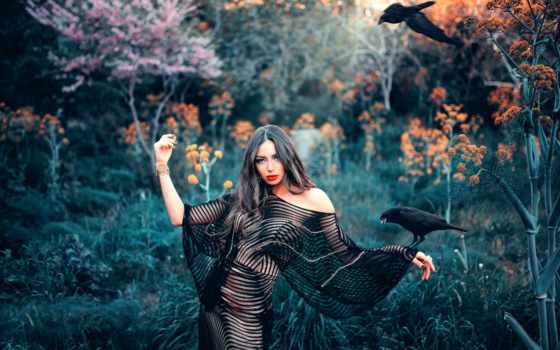 ночь, девушка, nights, лес, kovacs, queen, природа, situations, макияж,