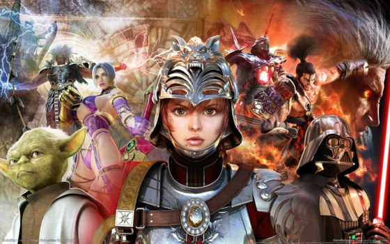games, soulcalibur, игры, calibur, soul, game, видео, компьютерные, star, wars,