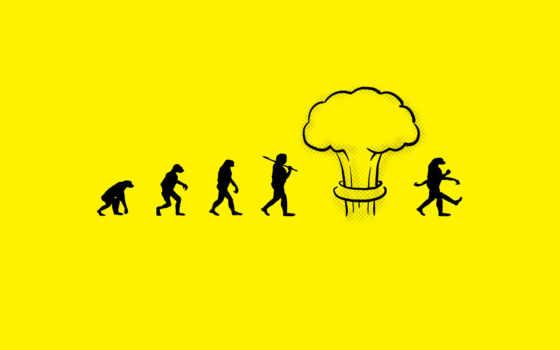 эволюция, ядерный, взрыв, человек, funny, мутация, evolutions, background, bomb,