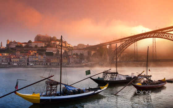 beach, portugal, porto, river, boats,