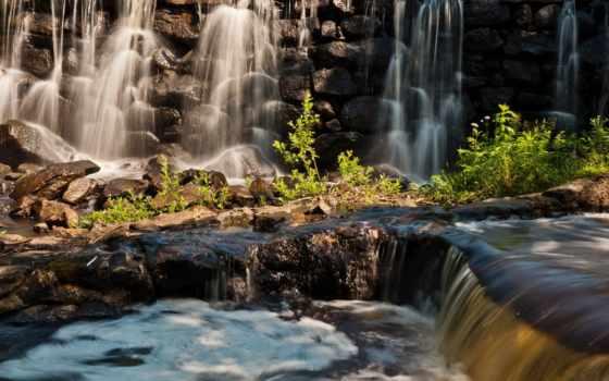 красивые, водопад, природа, качества, камни, страница, природы, качество, хорошего, высокое,