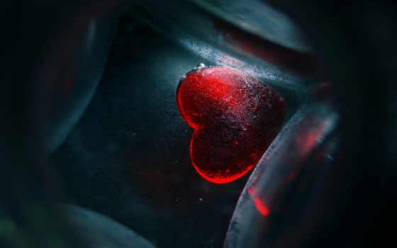 сердце, лед, рисунок,