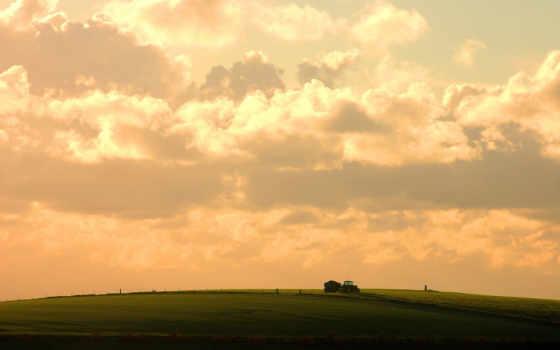 небо, трактор Фон № 26719 разрешение 1920x1200