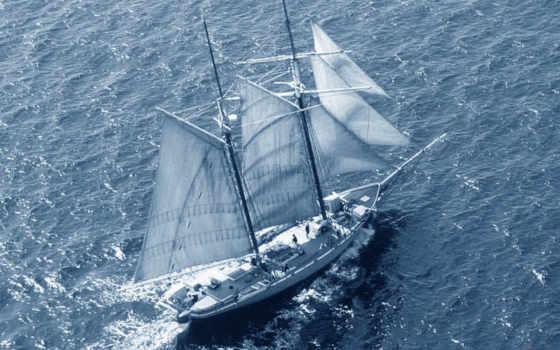 корабли, море, парусные
