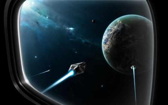 иллюминатор, космос, planet