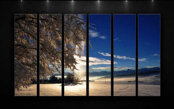 winter, красивые, свет