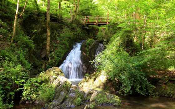 природа, водопады, водопад, картинка, страница, мост, красивые,