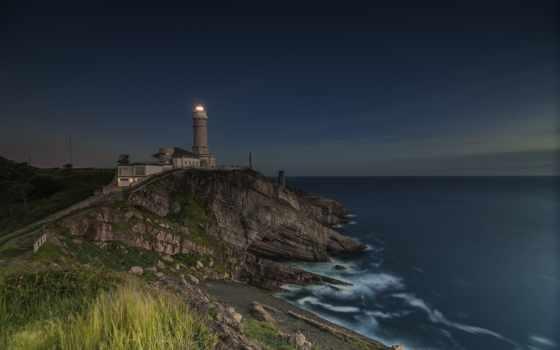 ocean, lighthouse, heceta, скалы, голова, oregon, desktop,