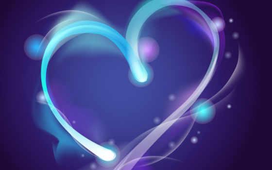 сердце, фоне