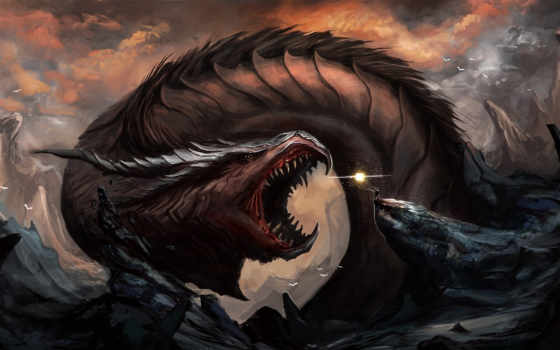 арт, дракон