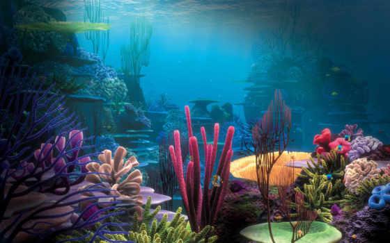 подводный, mir, фоны, вязание,