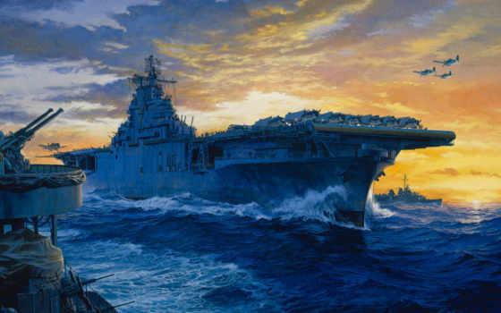 корабли, рисованные, армия Фон № 79501 разрешение 1920x1200