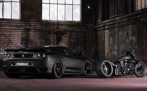 ferrari, black, coches, изображение, газовый, мото, con, motorbike,