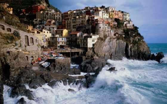 italy, manarola, piazza, море, италии, деревня, отдых, small,