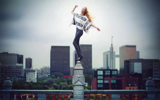 девушка, города, город, биг, жизни, risk, картинка, радость, ограде, photoshop,