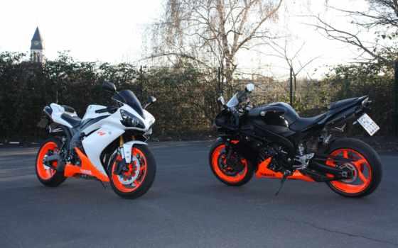 yamaha, yzf, мотоциклы, мотоцикл, black,