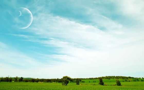 planet, другой, landscape, landscapes, луна, planets, природа, небо,