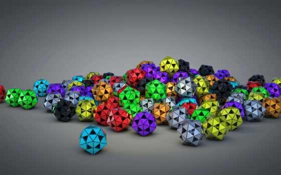 full, color, imagenes, desktop, абстракция, треугольник, мяч,