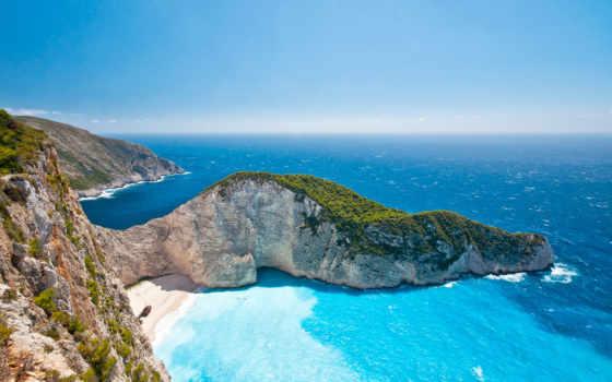 greek, пляж, ионических, bay, navagio, hotel, островов, турецкая, закинф, греции, avia,