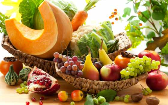 плод, растительный, осень, комната, тыква, морковь, капуста, grenade