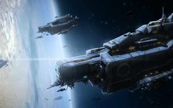 art, корабли, космос