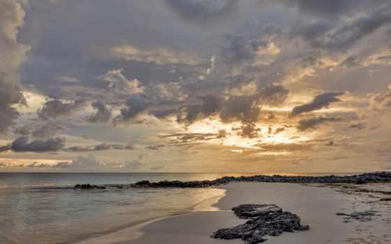 пляж, dusk, картинка
